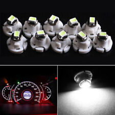 10x T4 T4.2 Neo Wedge 1-SMD LED Cluster Instrument Dash Climate Bulbs White Well