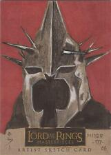 """Lord of the Rings Masterpieces - Steven Miller """"Witchking"""" Sketch Card"""