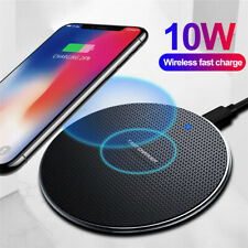 For Samsung S6 S7 S8+ Note 9 8 5 10W Fast Qi Wireless Charger Dock Charging Pad
