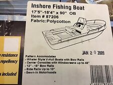 "TAYLOR MADE INSHORE FISHING BOAT COVER 17'5'-18'4'L--90""BEAM-OUTBOARD,GRAYPOLY"
