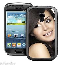 Cover Samsung Galaxy S3 Mini personalizzata con foto o logo aziendale col. nero