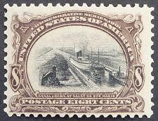 1901 US Stamp Scott #298 8c Canal Sault Ste Marie MH OG
