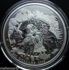 *NEW HOT ITEM* $200 .999 Fine Silver Coin - 2015 Rugged Mountains CANADA Bullion