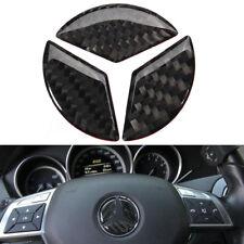 45mm Carbon Fiber Steering Wheel Emblem Badge Sticker Decal For Mercedes Benz