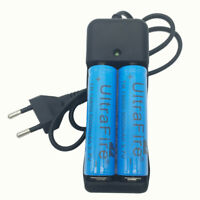 2pcs 18650 5000mAh 3.7V Li-ion Battery Rechargeable Batteries and Smart Charger