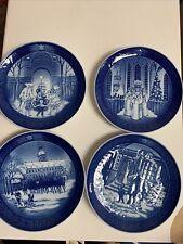Four (4) Royal Copenhagen Denmark Christmas Collector Plates 1990 1991 1992 1994