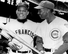 New York Giants WILLIE MAYS & Chicago Cubs ERNIE BANKS Glossy 8x10 Photo Print