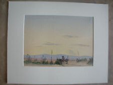 Early California Artist, Duncan Alanson Spencer Landscape Watercolor on Paper