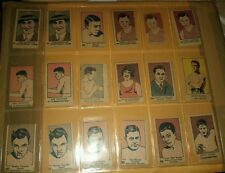 18-RARE 1926 BOXING/SWIMMING Strip Cards (Benny Leonard, Dundee, Carpentier)