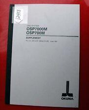 Okuma CNC System OSP7000M OSP700M Supplement: 4051-E (ME32-071-R2) (Inv.12458)