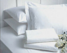 LOT of 6 NEW QUEEN SIZE WHITE HOTEL FITTED SHEETS T180
