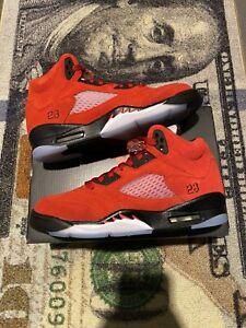 Nike Air Jordan 5 Retro GS Raging Bull 2021 7y Women 8.5 440888-600 In Hand!