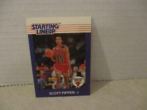1988 Scottie Pippen Kenner Starting Lineup SLU Card, Chicago Bulls