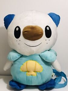 ✨ Pokemon Best Wishes Oshawott 2012 Anime Plush Backpack Bag Nintendo Toy ✨
