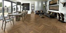 £41.58m2 70mm x 280mm Smoked Fumed Rustic Solid Herringbone Oak Wood Floor 18mm
