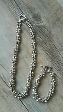 Silpada ???Sterling Silver DNA Ball Bead Link Toggle BRACELET AND NECKLACE