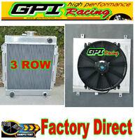 BRAND NEW 3 CORE race aluminum radiator + SHROUD+FAN datsun 1200 manual