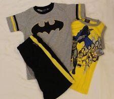 BOYS 4 Batman DC Comics 3-piece outfit (tank top, t-shirt & shorts) NWT