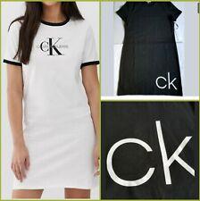 CALVIN KLEIN T shirt Dress BIG LOGO iconic Women`s 1 Dress