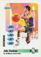 1991-92 SkyBox Utah Jazz Basketball Card #306 John Stockton Assists