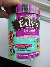 Edy'S Power Puff Girls Ice Cream Containers empty Powerpuff mint chip
