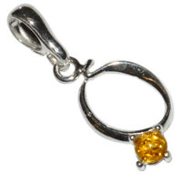 1g Authentic Baltic Amber 925 Sterling Silver Pendant Jewelry N-A506B