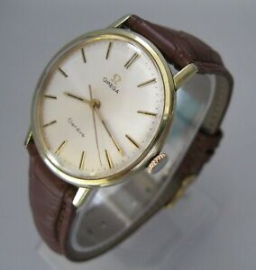 BEAUTY! 1970 OMEGA GENEVE Cal 601, Gold Plated, Manual Wind Good Running Cond.