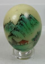 """#11 55.00mm Hand Painted Landscape Scenery On Natural Marble Stone Egg Sphere 2"""""""