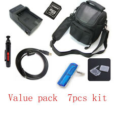 For Nikon Coolpix AW100s USB Cable+Camera BAG+Battery Charger+Card Reader