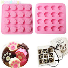 Cat Dog Paw Print Silicone Cake Decorating Candy Cookies Chocolate Baking Mould