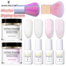 8Pcs/Set BORN PRETTY Nail Art Dipping System Powder Liquid Brushes  Kit