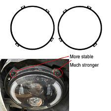 7'' Round Headlight Retaining Ring Headlamp Bezel for 2007-2017 Jeep Wrangler JK