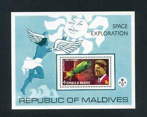 MALDIVES 1974 Space exploration projects Miniature sheet  SG MS490  MNH    Sale