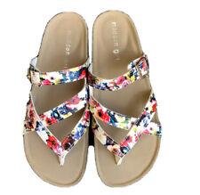 Emma Wht Floral White Prin Adjustable Strappy Sandals multicolor 00132351