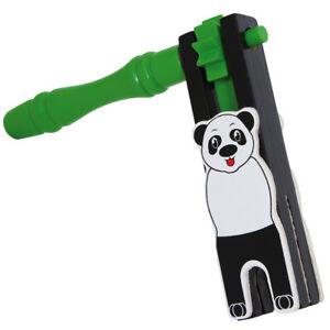 SMALLFOOT DESIGN Rassel Panda aus Holz Spielzeug Baby - 7743