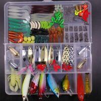 Senuelos de pesca Set 180pcs Lote Tackle incluyendo ranas Senuelos Senuelos  8X3