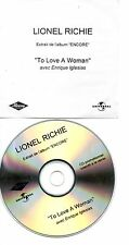 ENRIQUE IGLESIAS LIONEL RITCHIE RARE FRENCH PROMO CDS TO LOVE A WOMAN
