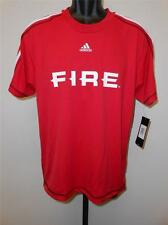 NEW-MENDED CHICAGO FIRE MENS ADULT MEDIUM M ADIDAS JERSEY 63WY
