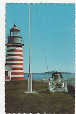 West Quoddy Head Light Lubec Maine Old Postcard 351a ^
