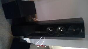 Jamo surround sound system includes speakers, sub 200 unit, Yamaha AV receiver