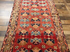 """4'4""""x11' Authentic Vintage Unique Hand knotted wool Oriental Antique rug runner"""