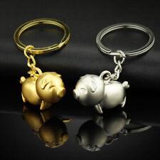Fashion Metal Men Women Bag Car Key Chain Ring Gold Pig Cute Gift Small Pendant
