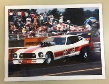 Vtg Mustang II Cobra Drag Car Photo 8x10 High Quality Color & John Force Ad