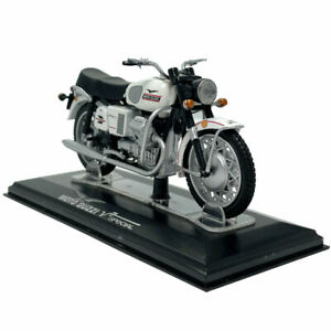 1:24 Moto Guzzi V7 Special Motorcycle Model Diecast Bike Model Collection White
