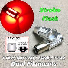 Strobe Rear Turn Signal Light 1157 2057 3496 7528 BAY15D Red LED Bulb W1 JAE