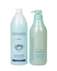 COCOCHOCO PURE total repair Keratin Treatment 1000ml + cleansing Shampoo 1000ml