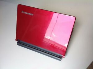 "[C] Lenovo IdeaPad S10E Laptop10.1"" N270 @1.60GHz 2GBRAM120GB SSD Win7 RED WiFi"