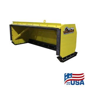 6' Skid Steer Snow Pusher/Back Drag/Push Pull/Bobcat/Kubota/Quick Attach