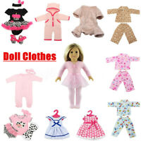 18''/22'' Baby Doll Clothes Dolls Sleeping Jumpsuit Suit Kid Christmas  UK AU