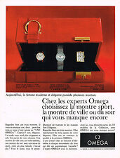 PUBLICITE ADVERTISING 025  1967  OMEGA  collection montres